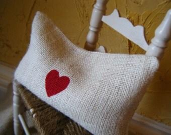 Little Red Heart Pillowette