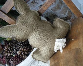 Burlap Bunny Pillow
