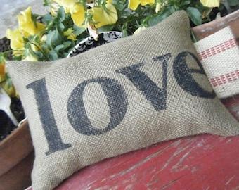 Burlap Pillow of Love