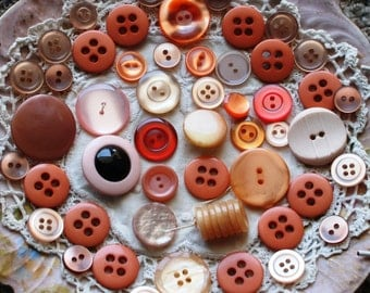 Assorted Orange Buttons