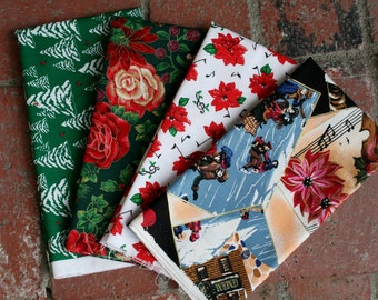 Christmas fabric 4 pieces