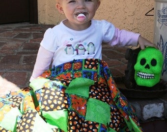 Trick or Treat ---- Halloween Baby Carseat/Stroller Quilt Diamond Pattern