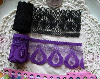2 Lace and 1 Ribbon 1 Yard Each