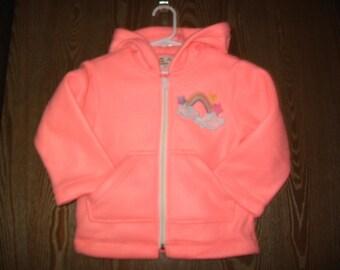 Handmade Wee Baby Bundles Size 3, Melon Fleece Hoodie/embroidered