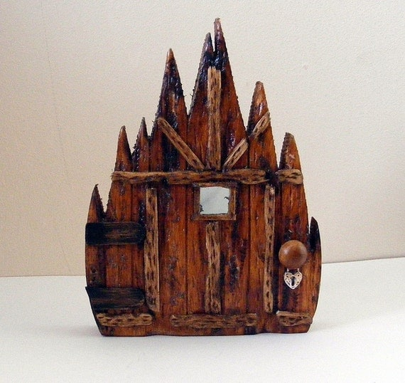 Wooden fairy doors by fairyrade for Wooden elf door