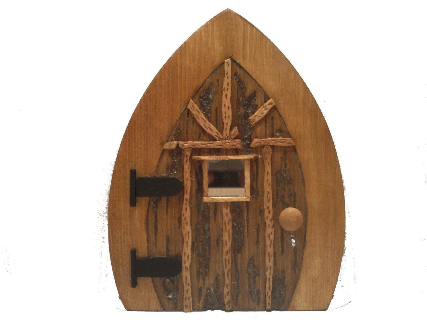 Enchanted wooden fairy door by fairyrade on etsy for Wooden fairy doors