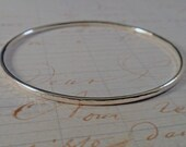 Hammered Sterling Silver Bangle Simply Stunning