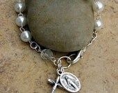 Girls Rosary Bracelet for Easter, First Communion or any occasion