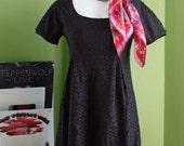 Black Lace Babydoll Dress Medium