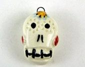 Ceramic Sugar Skull Charm