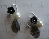 Mysterious Flower and Bead Earrings
