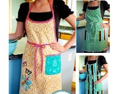 Shopgirl Apron PDF Sewing Pattern downloadable e-book (Child and Adult sizes), easy apron pattern, easy sewing tutorial, child apron pattern