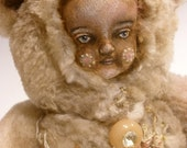 RESERVED FOR dogfaeriex5  Blushing Madeline /Original Art Doll / Teddy Bear /Wild Thing / Clarissa Callesen