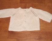 Pearl White Newborn Cardigan