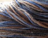 Blue Jean hand dyed worsted merino yarn