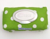 baby bundle, lime green and white dot