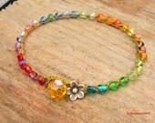 Rainbow bracelet,earthy, boho, weekend wear, as seen on the front page of etsy