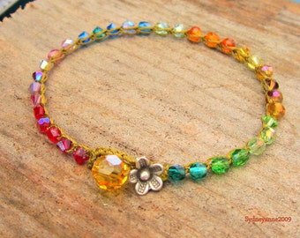 Rainbow bracelet,earthy, as seen on the front page of etsy