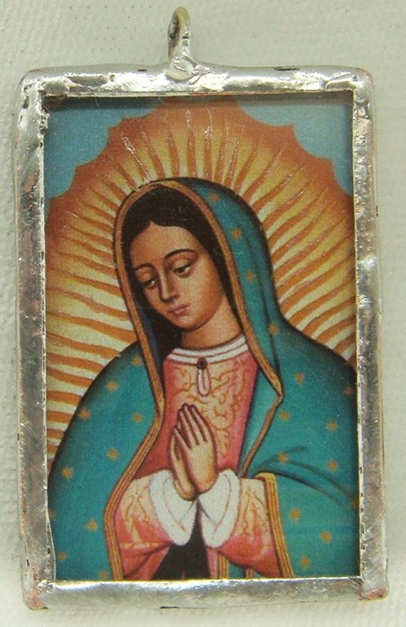 Virgin of Guadalupe Pendant with Angel Icon on the reverse  inv314