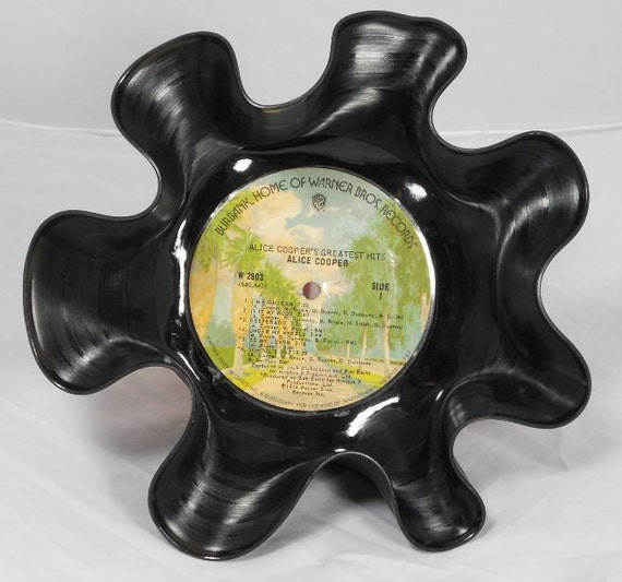 Alice Cooper's Greatest Hits Recycled Record Bowl