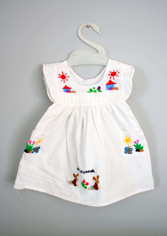 RESERVED Vintage El Salvador Toddler Dress Sz 2T