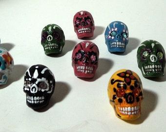 Tiny Dia de los Muertos Sugar Skull Beads (2)