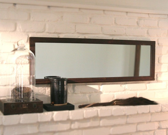 Large Antique Wood Framed Wall Mirror Eco Friendly Recycled