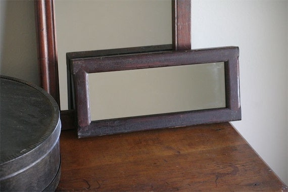 Long narrow wood mirrormade from recycled antique wood door for Long narrow mirror