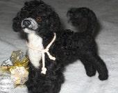 Custom Pet Portrait / Needle Felted Dog / Animal Sculpture by Fiber Artist GERRY / Lifelike Poseable