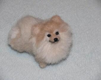 Your Pet in Miniature / Custom Pet Portrait / Cute / poseable / example Pomeranian