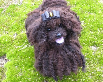 Custom Pet Portrait / Sculpture of your pet /  Needle Felted Dog /  Rare Breed Puli