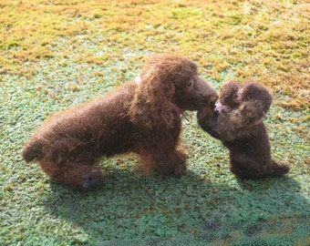 Needle Felted Dog / Custom 1/12 scale  Miniature Sculpture of your pet / Dollhouse Pet / example Sussex Spaniel small size