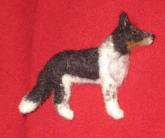 Felted Miniature / Custom Pet Portrait pin of your Dog /  Handmade Personalized just for You