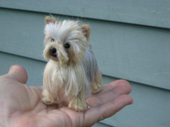 Needle Felted Yorkie /Custom Miniature Sculpture of your pet / Cute ...