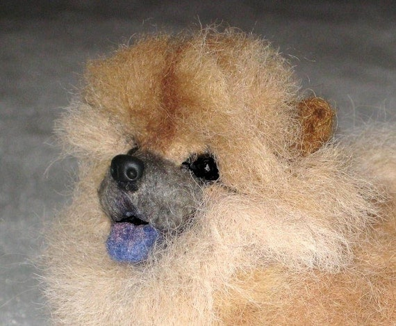 Gourmet Felted /Custom Miniature Sculpture of your pet Cute / poseable / example Chow Chow