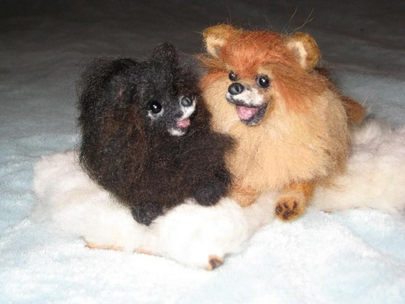 Wedding Cake Topper / Needle Felted Dogs / Your pets on Your Wedding Cake
