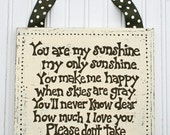 SALE  sALe  SaLe READY to SHIP Shabby Chic Distressed Canvas with You Are My Sunshine