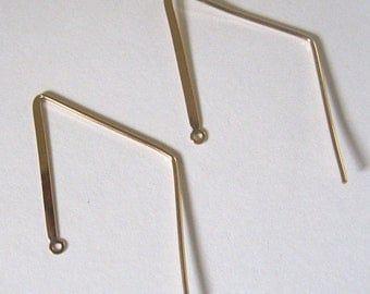 23x42mm Flat Diamond Earwire gold-filled