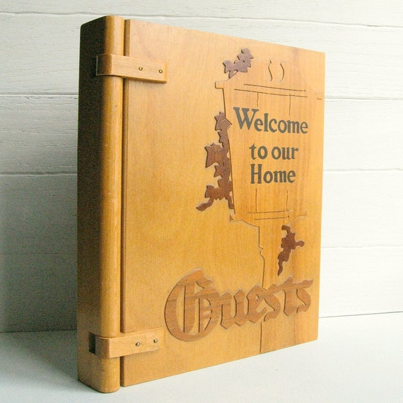 Welcome To Our Home: Welcome To Our Home Guest Book ........ Wooden Cover With