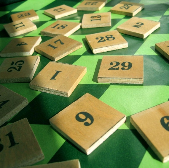 CALENDAR TILES Wooden DATES Perpetual Numbers SET OF by MagiaMia
