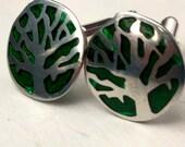Green Tree cuff links