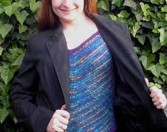 Knitting Pattern - Winter Ripples Layering Top