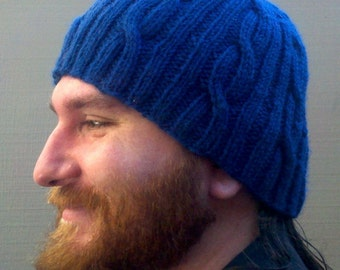 Knitting Pattern- Easy Open Cabled Worsted Hat