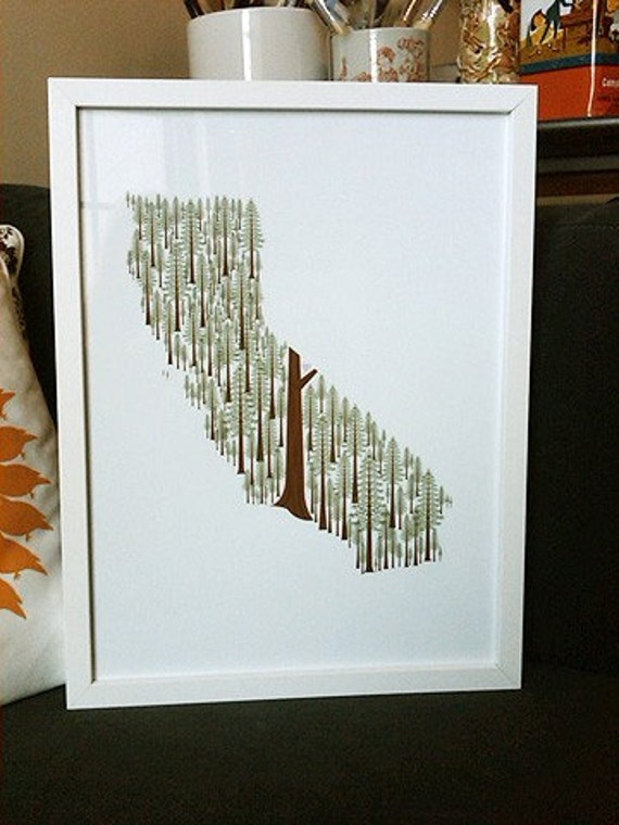 California Redwoods print