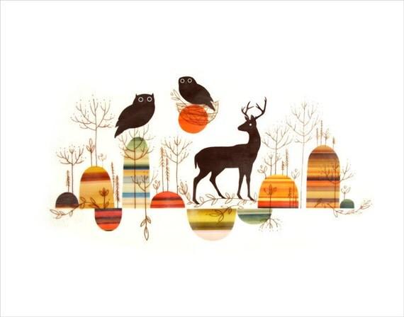 Woodland - art print