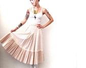 Vintage Gunne Sax Pink Peasant Skirt- Med