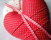 Decorative Pincushion Heart Red Spot Cotton Handmade