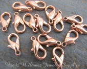 Copper Plated 7x12mm Lobster Clasp - 12 PCS