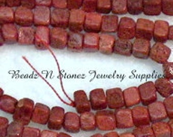 32 Strand Assortment of Sponge Coral Cube Beads