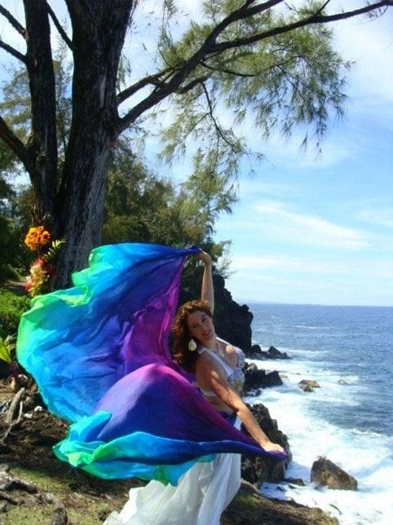 NEW ITEM Divinity silk dress colors similar to the veils Ayahuasca please read